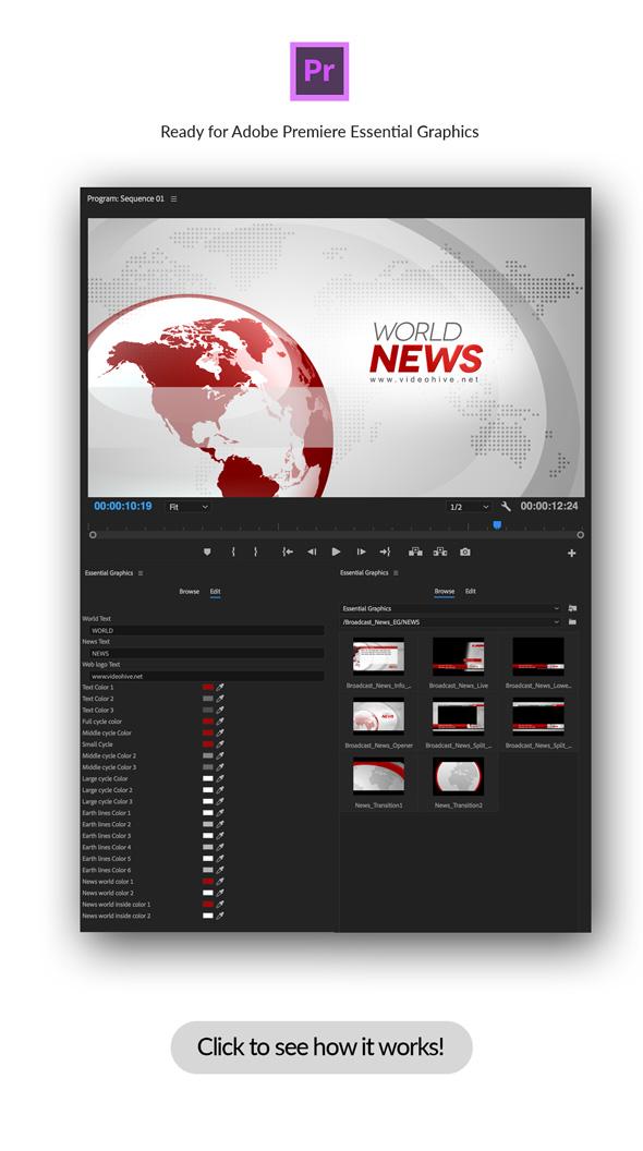 Broadcast News Essential Graphics | Mogrt - 8