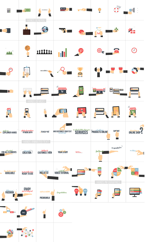 Flat Animated Icons Library - 16