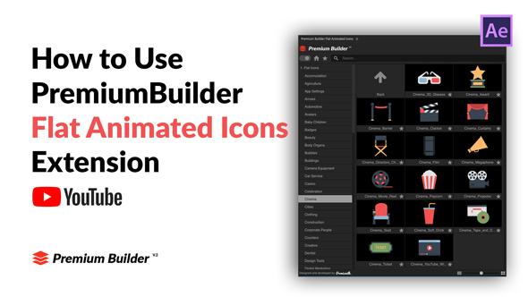 Flat Animated Icons Library - 12