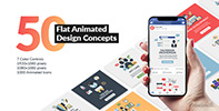 Flat Animated Icons Library - 30